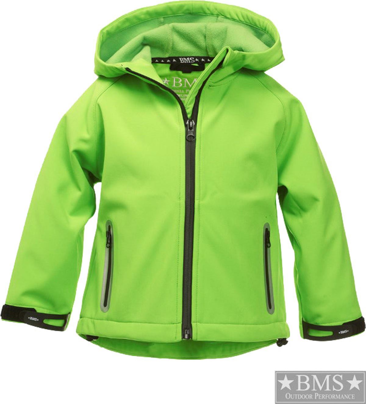 bms softshell jacket with hood 10000 mm lime green 077 906. Black Bedroom Furniture Sets. Home Design Ideas