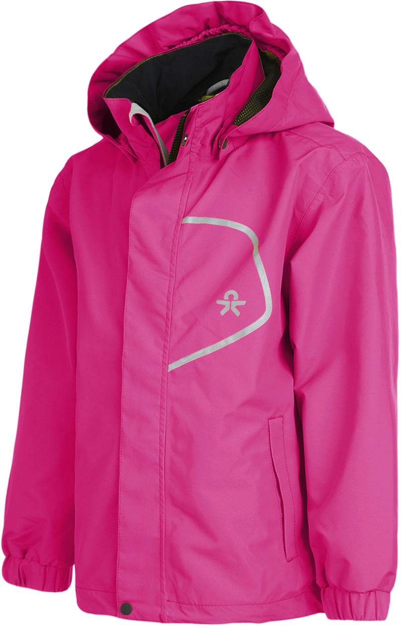 High Quality Pink Blue Rain Jacket COLOR KIDS With Pockets On The Front Provides Little Adventurers Protection From Wind And Weather