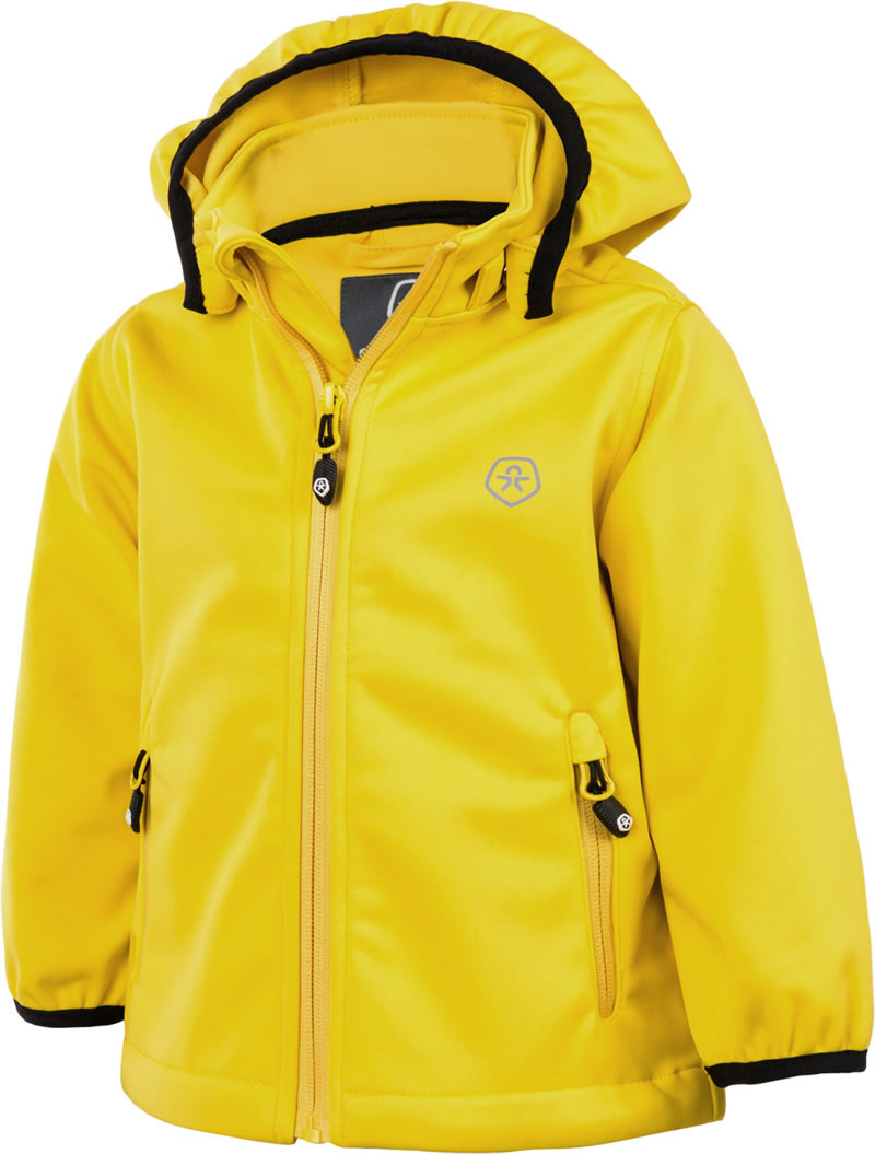 Color Kids Softshell Jacke TRIMBLE MINI Freesia Gelb 103624 0387