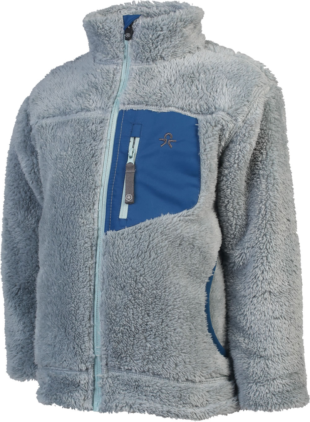 Color Kids Fleece Jacke Gefttert KATIMBO Dusty Blue 103733 0146