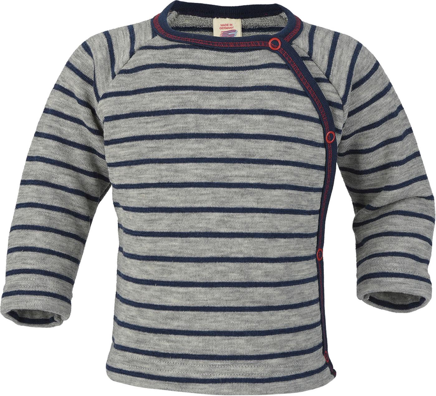 92 104 116 128 Engel Schlafanzug Pulli hellgrau//marine Wolle Gr