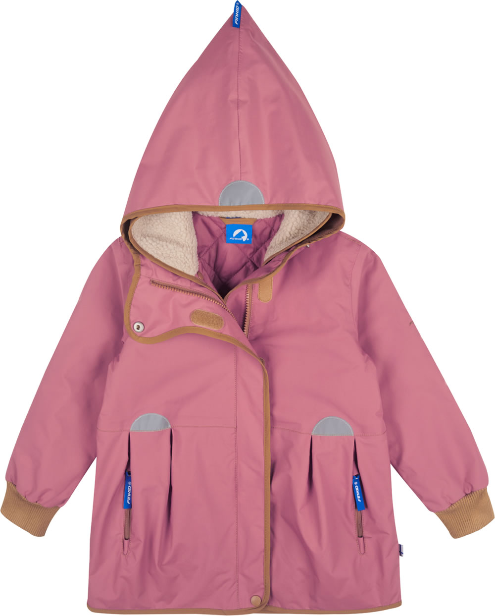 uk availability d3bdf dcc07 Finkid Mädchen Outdoorjacke 2 in 1 AINA rose/cinnamon 1132002-206416