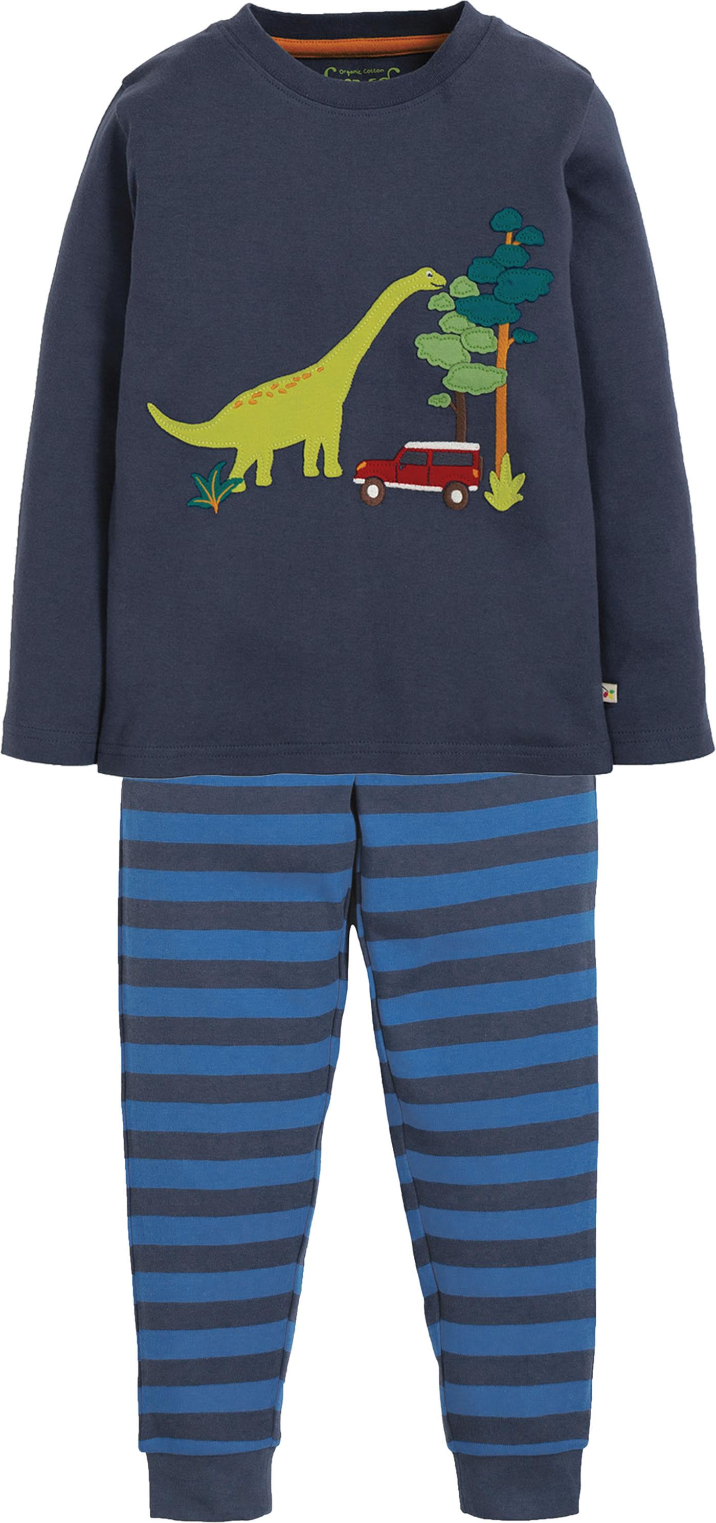 low priced 5f3c9 f8c31 Frugi Pyjama Long John PJs Navigator DINO space blue PJA955SPJ