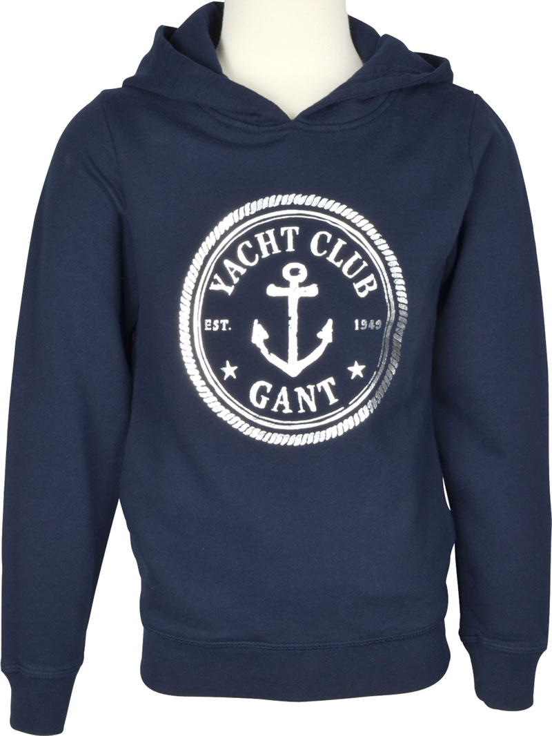 uk availability 86a07 00045 GANT Hoodie ANCHOR evening blue