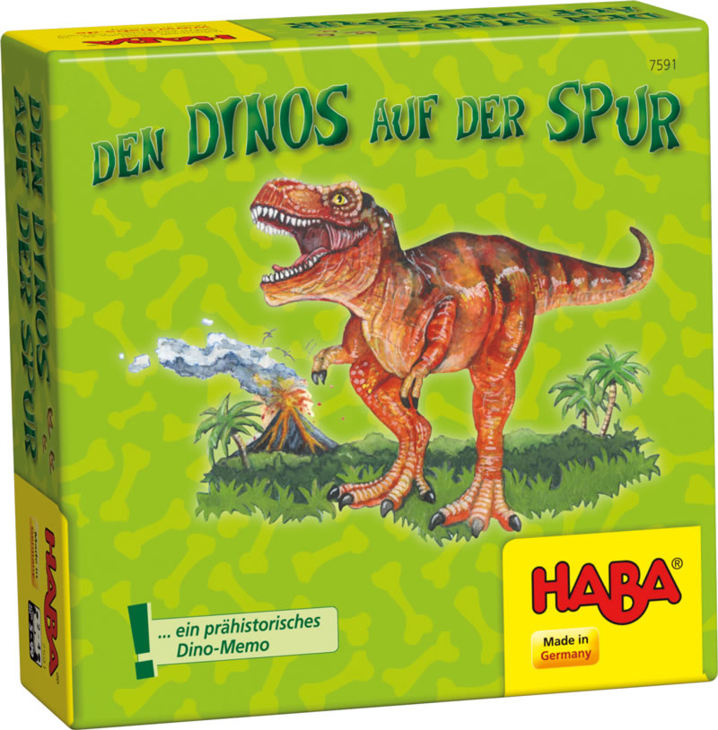 haba memo spiel den dinos auf der spur 7591 bei papiton bestellen. Black Bedroom Furniture Sets. Home Design Ideas