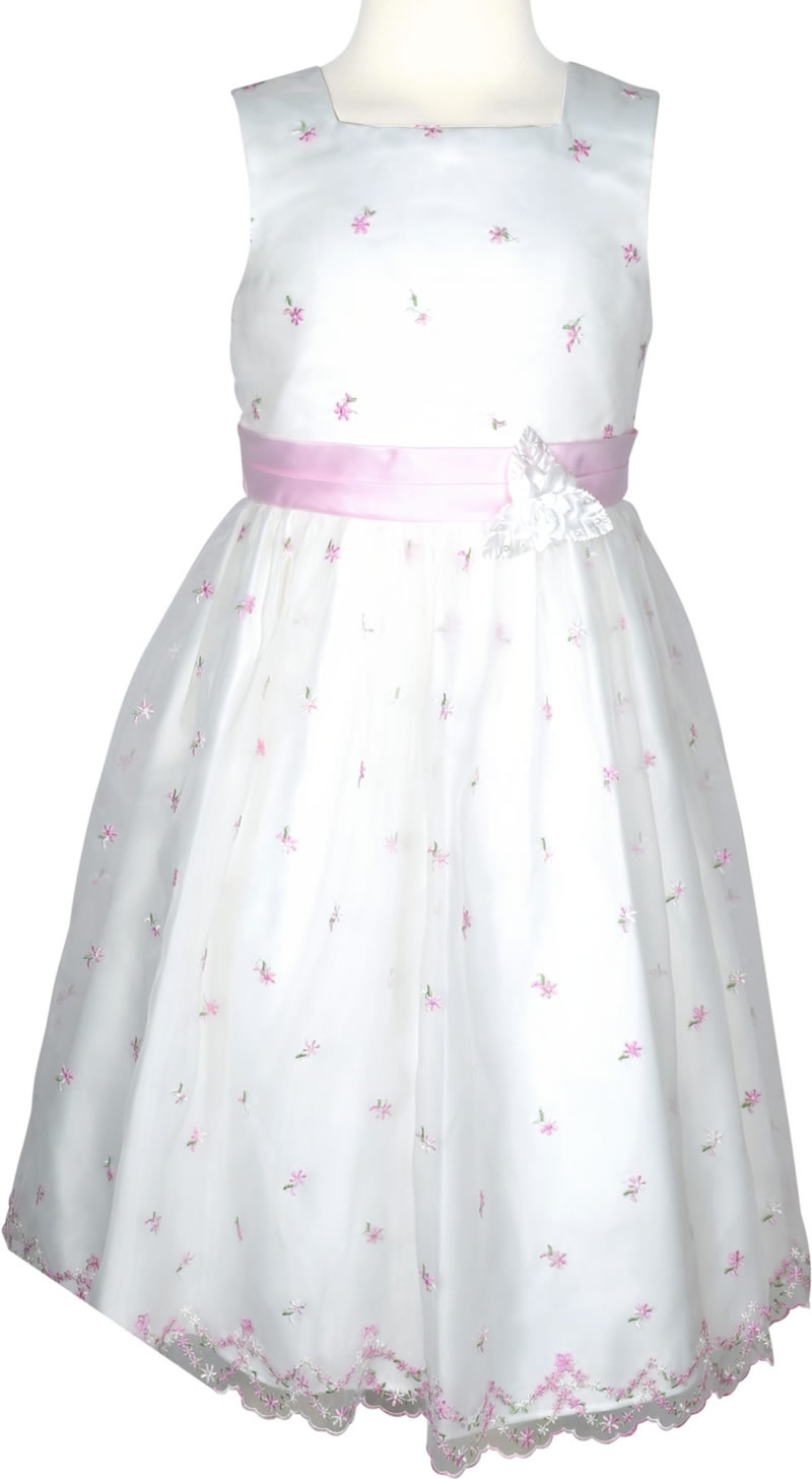 Happy Girls Fest-Kleid Kommunionkleid mit Stickerei rosé/pink 524590 ...