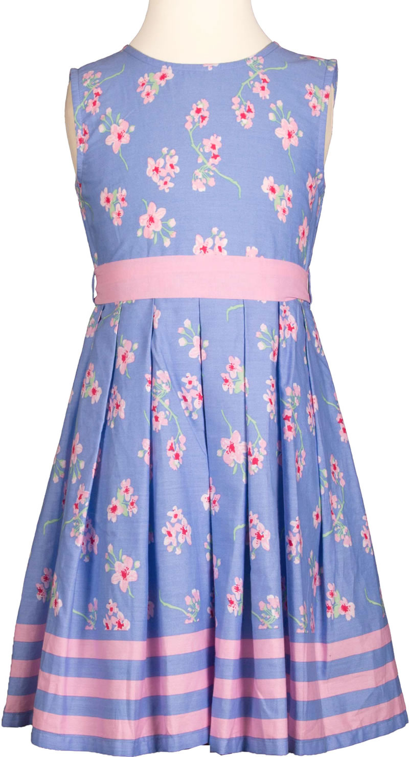 Happy Girls Summer Dress Flowers Blue Pink 971397 60 Online At Papiton