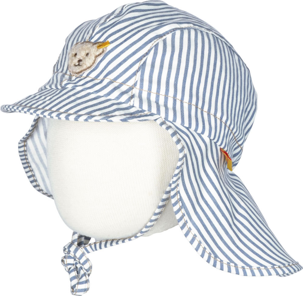 Steiff Hat with neck guard SUMMER COLOR striped 6832860-0001 online ...