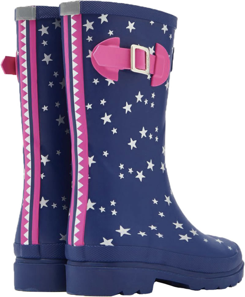 buy popular b9b7c dbc1e Tom Joule Wellingtons WELLY Sars blue/silver/berry V_JNRGIRLSWLY