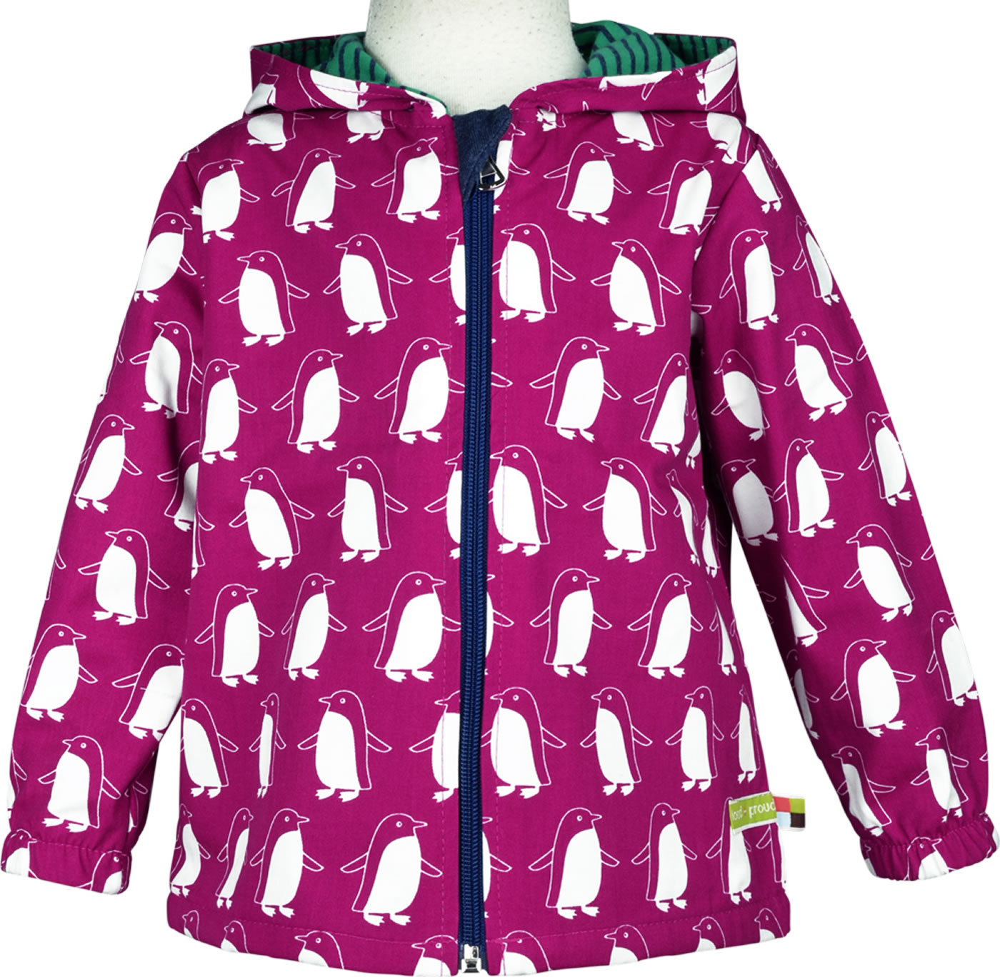 loud + proud Outdoor Jacke Bionic Finish PINGUIN berry 3042 ber GOTS