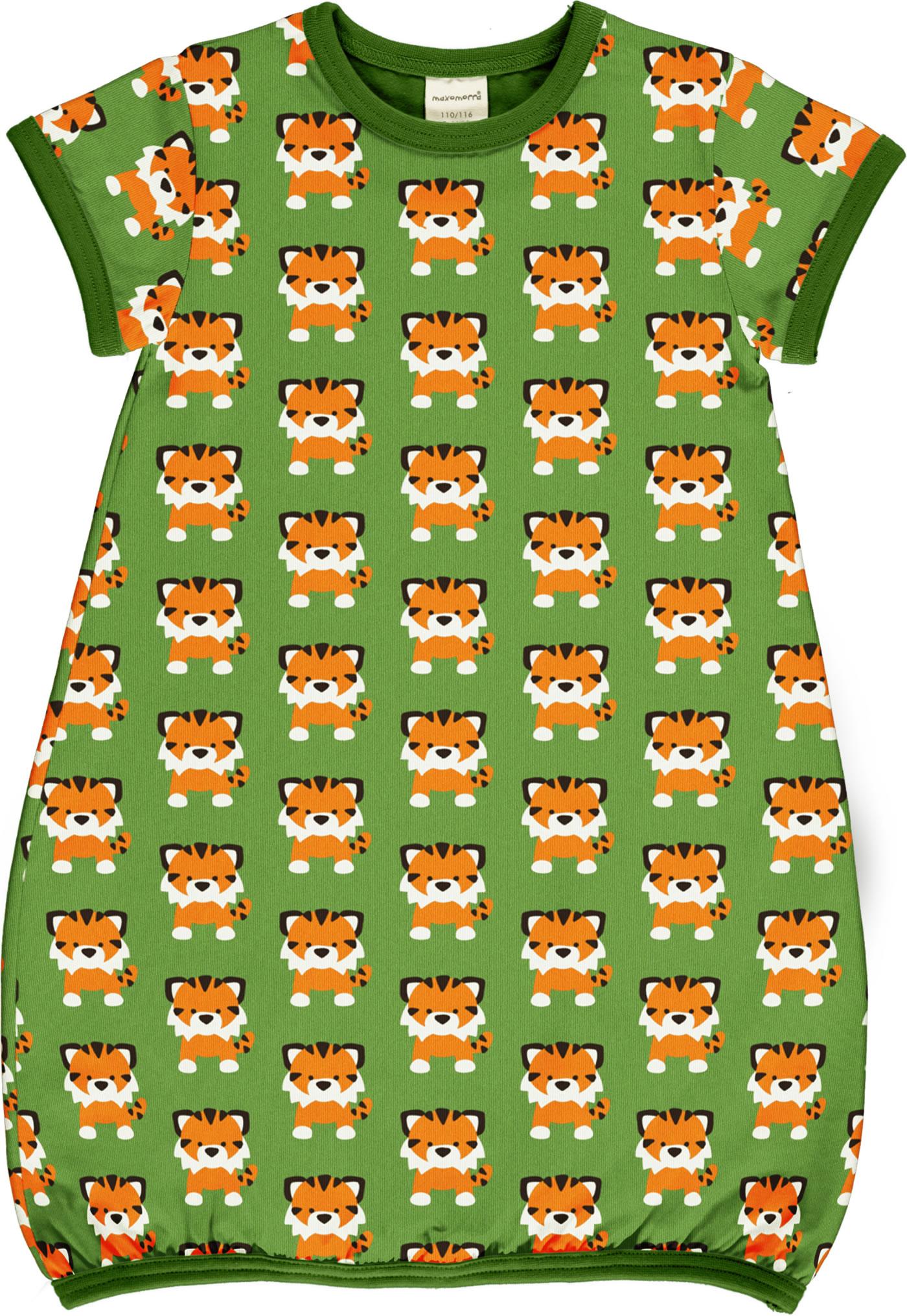 Maxomorra Rompersuit Long-Sleeve Tangerine Tiger 32007