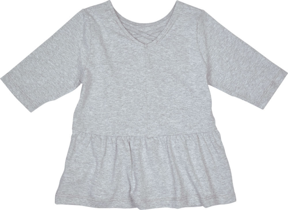 free shipping 709a8 0f2a7 Miss Melody T-Shirt / Tunika Halbarm FOHLEN light grey melange 84072-217