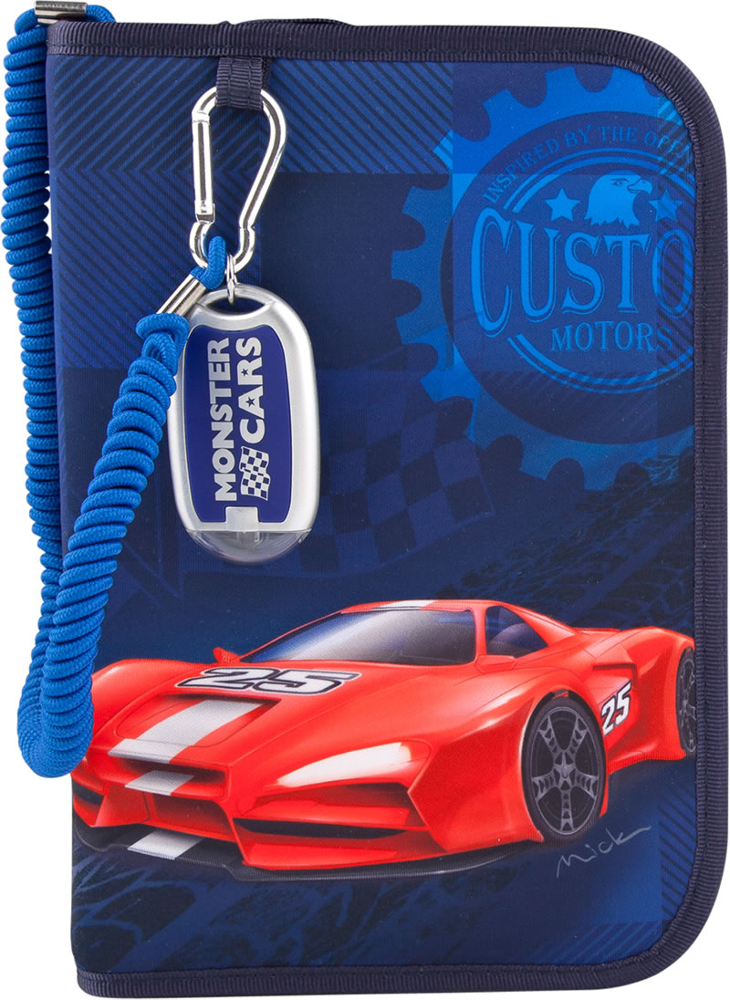 Monster Cars Pencil Case With Filling With Flashlight Online At
