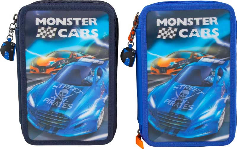 Monster Cars Pencil Case With Filling Online At Papiton