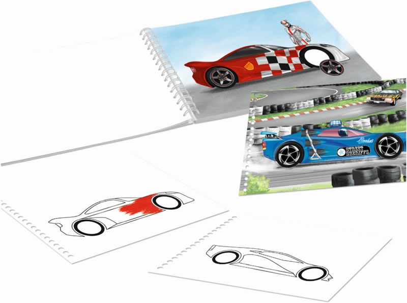 Monster Cars Pocket Colouring Book Create Your Monster Cars Online