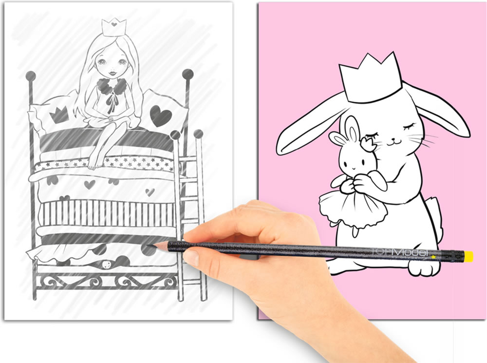 my Style Princess MImi mini coloring book Magic Book online at ...