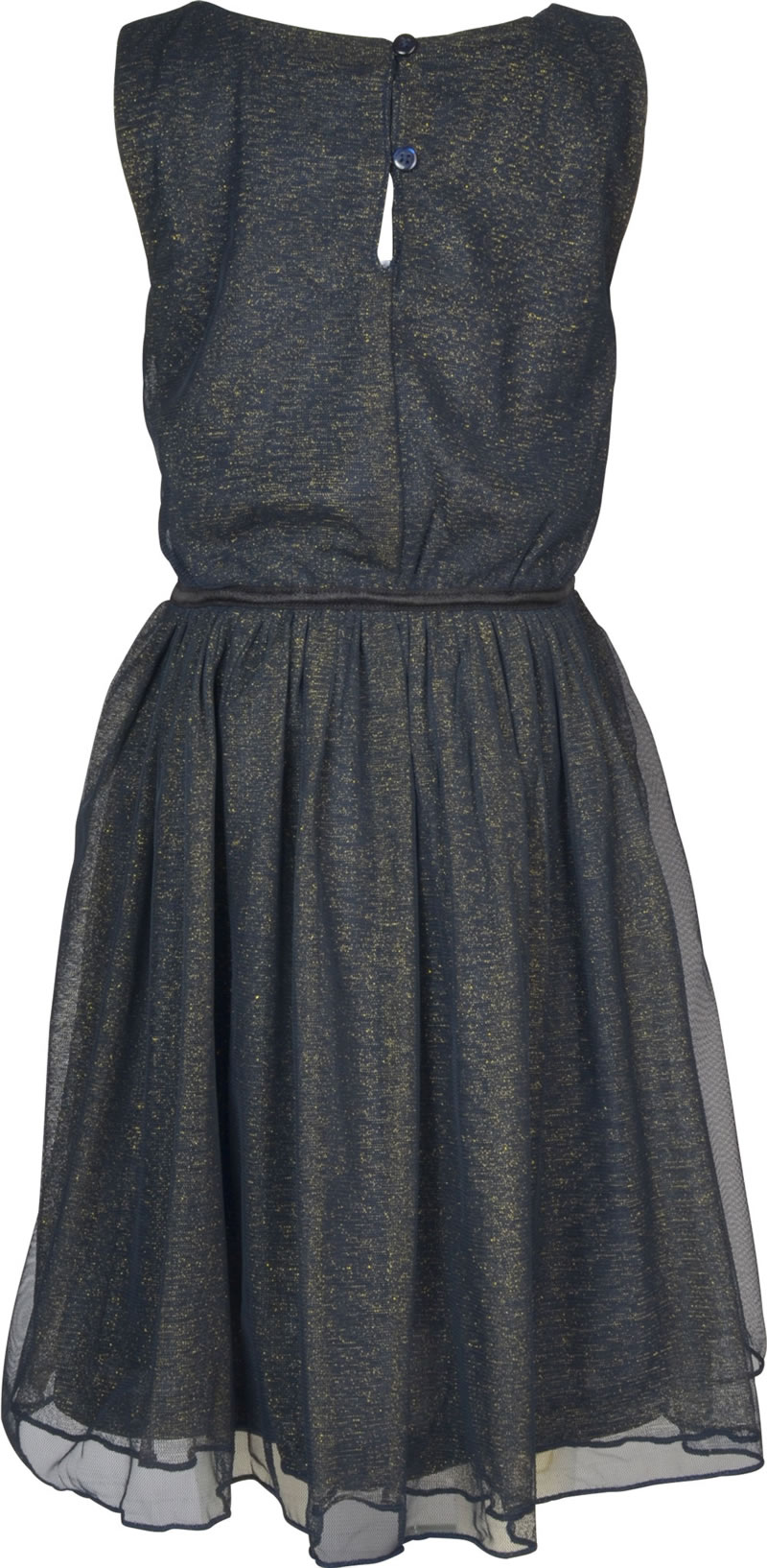 20b5c8381 Charming, festive dress in dark blue by NAME IT for girls. The sleeveless gown  dress consists of 3 layers, a dark blue underwear, a transparent tulle part  ...