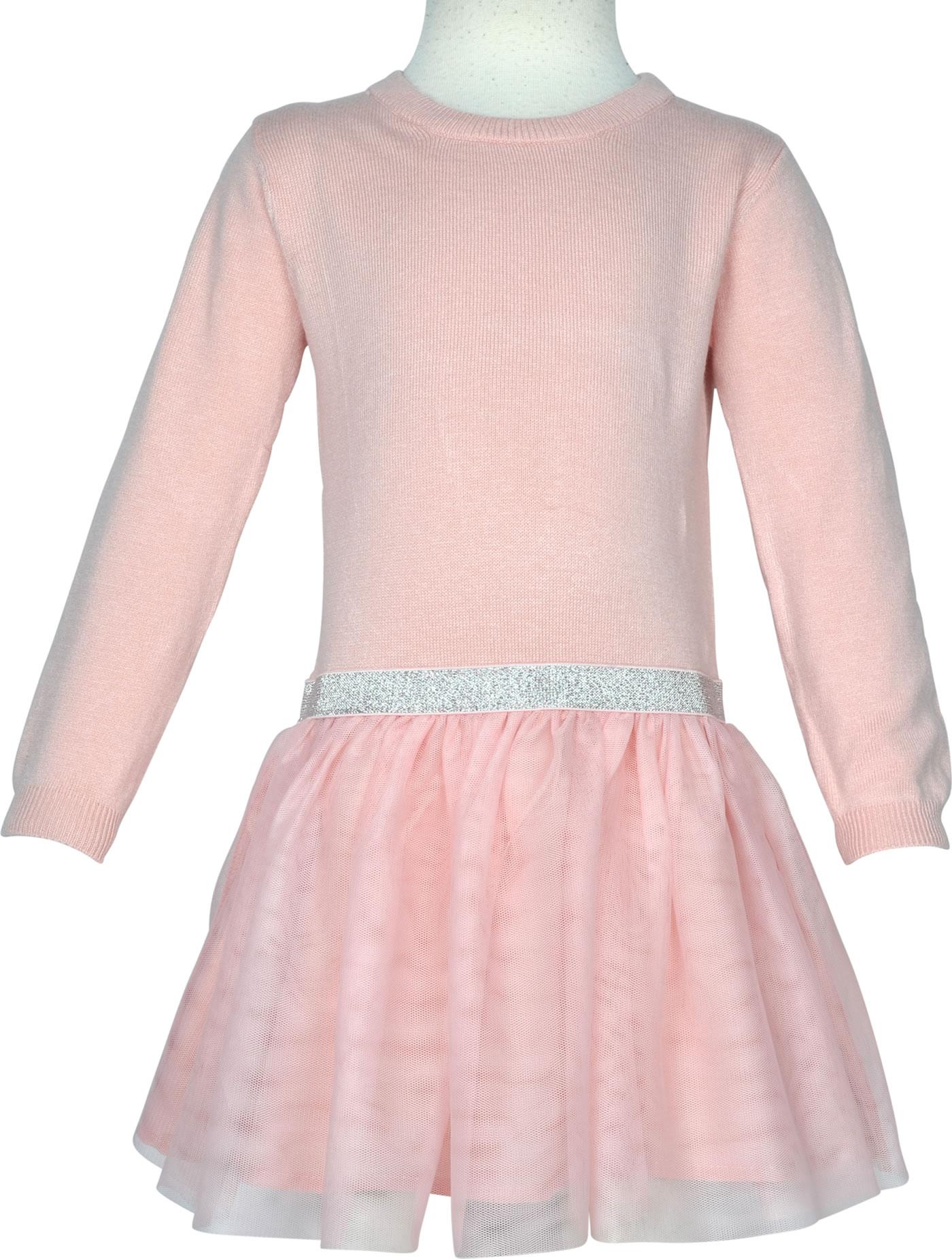 name it Festliches Kleid mit Tüllrock Langarm NMFRALIKKA silver pink  18