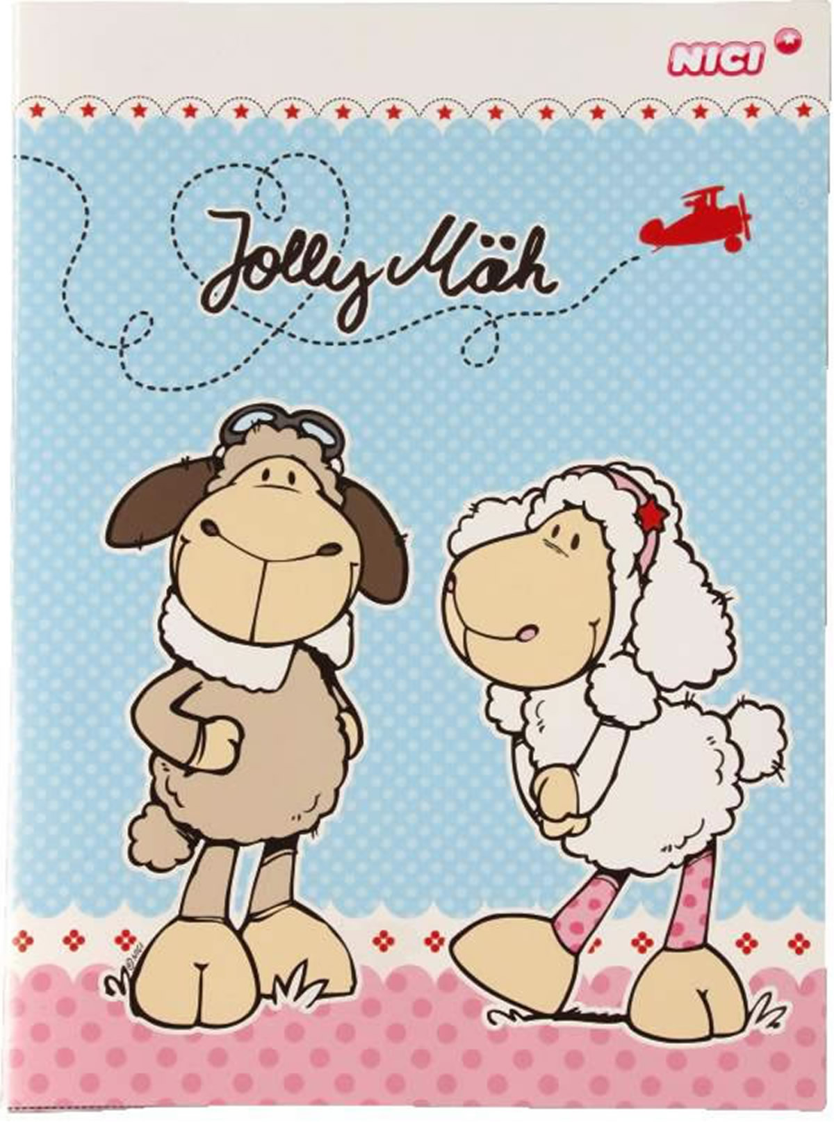 nici notebook with 6 message cards sheep jolly dean and