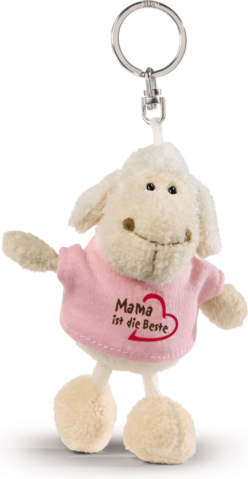 nici schl sselanh nger schaf mit shirt mama ist die beste bei papiton bestellen. Black Bedroom Furniture Sets. Home Design Ideas