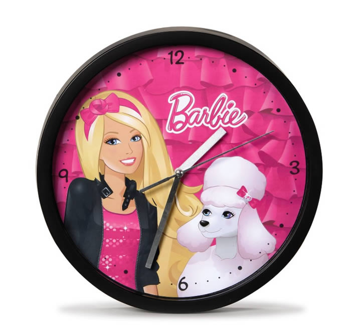 Nici Barbie Wall clock poodle Sequin online at Papiton.