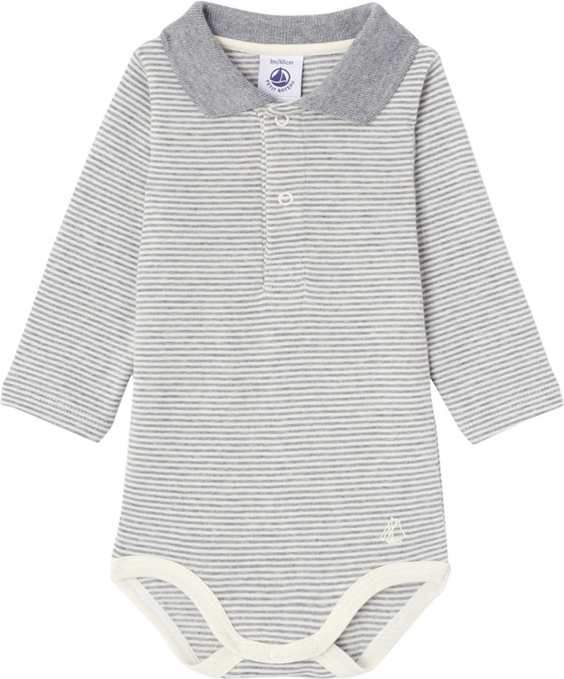 35f9580de358e This baby long-sleeved body by PETIT BATEAU is made of roughened 1x1 rib  knit. It is captivating with the famous Milleraies ring pattern from Petit  Bateau ...