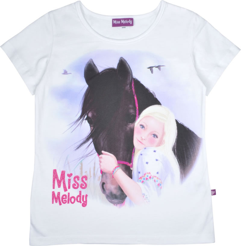 Miss Melody Chevaux Shirt T-shirt manches courtes shirt manches courtes fille violet