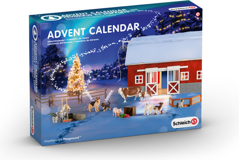 schleich advent calendar chirstmas on the farm 2014 online. Black Bedroom Furniture Sets. Home Design Ideas