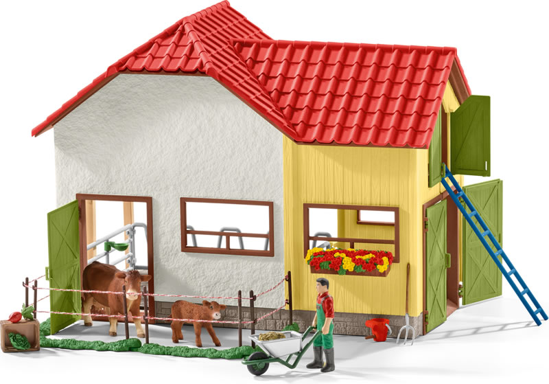 Schleich Barn With Animals And Accessories 42334