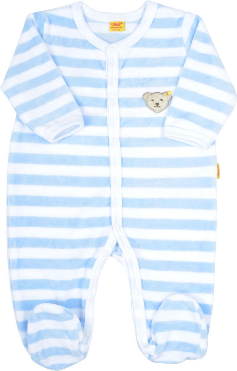 Brandneu 534f8 f4d0e Steiff Langarm-Strampler BASIC Nicki baby blue 0002848-3023