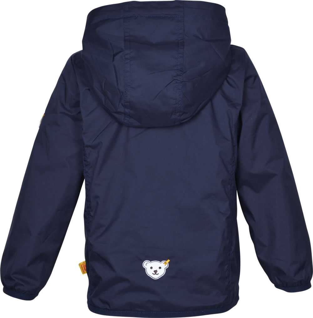 Light summer jacket in dark blue with a fixed hood by STEIFF for girls. The  inside of the jacket is equipped with a soft cotton lining in white. 056dfc14139b4