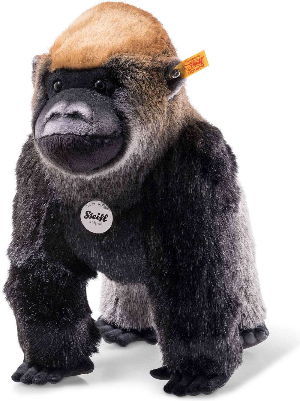 Steiff Kinderzimmer | Steiff Gorilla Boogie 35 Cm Grau Stehend 062216 Bei Papiton Bestellen