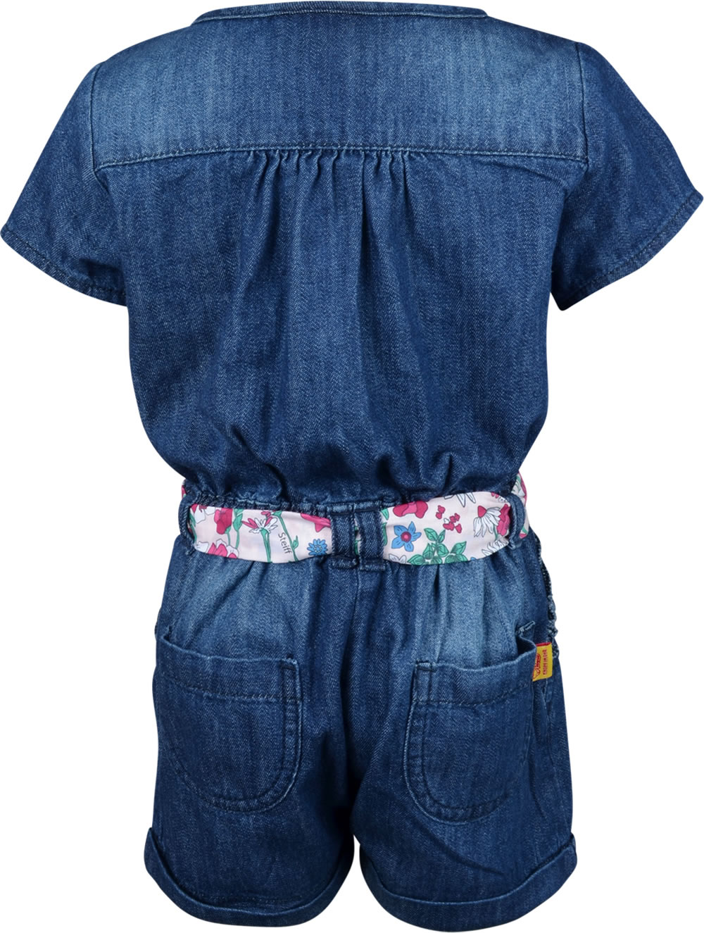 low priced 1fdcd 87cf0 Steiff Jumpsuit Jeans kurz WILDFLOWERS light blue denim 6913145-0014