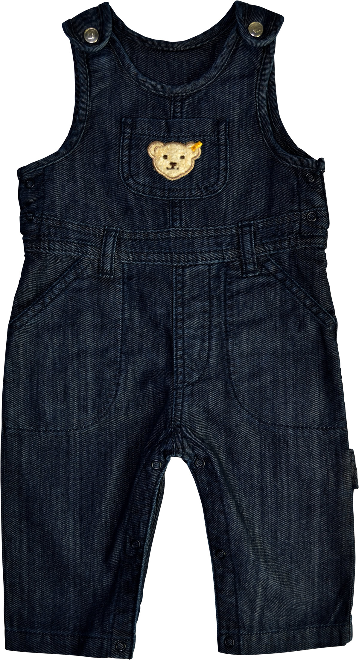 727f786b0076b Dark blue denim dungarees from the