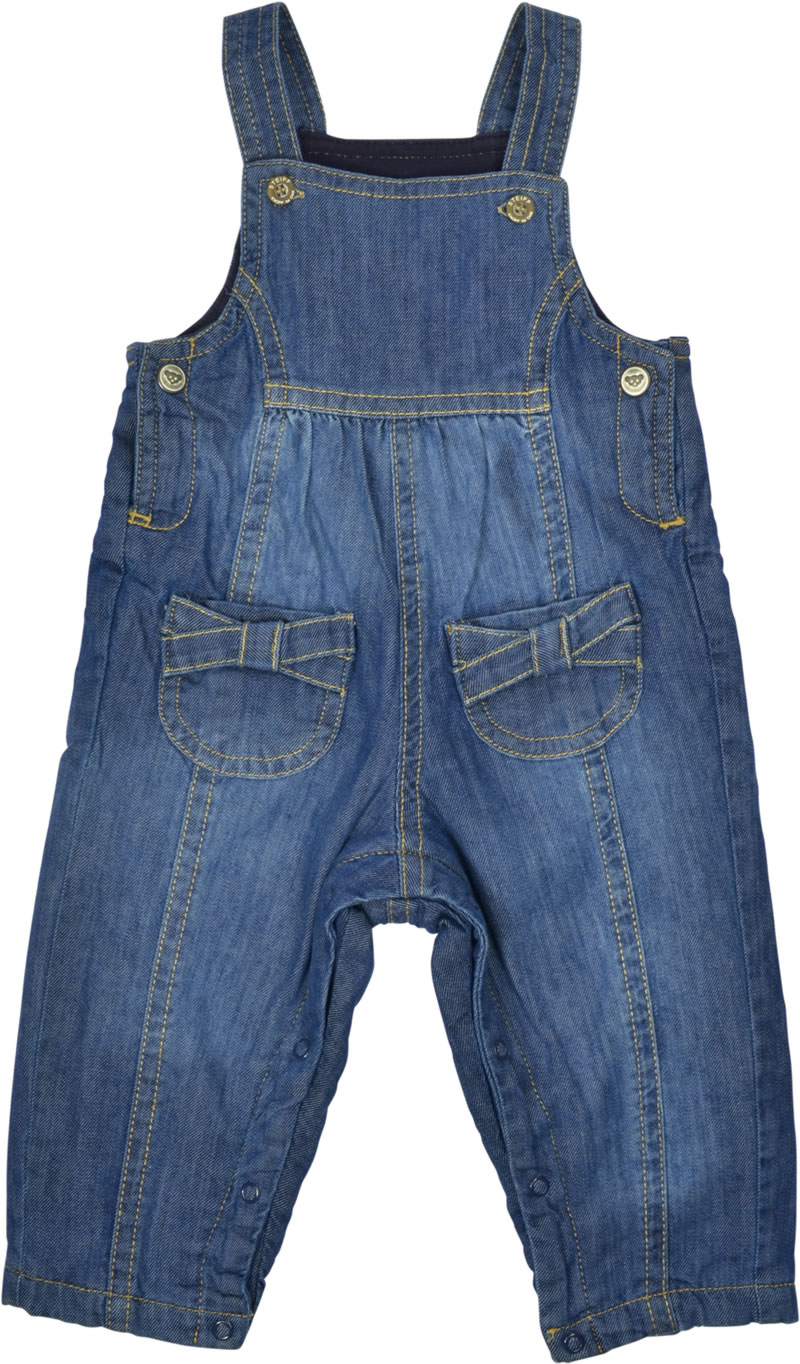 61fe40e9fe747 Lined denim dungarees by Steiff for girls from the Sunday Rose collection.  The straps can be individually adjusted by two buttons.