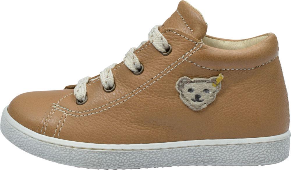 Steiff Leder Schnürschuhe Sneaker PIPPIN camel MK9426B9E ST 133