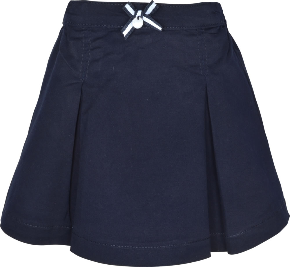 a2c22b285d8182 Dark blue pleated skirt by STEIFF for girls from the Navy Kids collection.  Under the skirt is an inner pants.The skirt has two pockets at the back.
