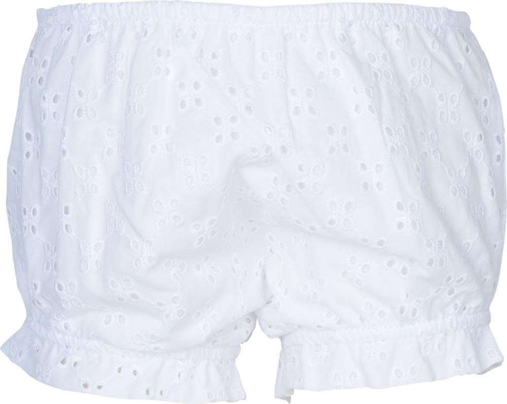 6b34d3e00a077 Hübsches Kurzarm-Kleid mit Höschen in weiß von STEIFF aus der Special-Day-Kollektion.  Das tolle Lochmuster