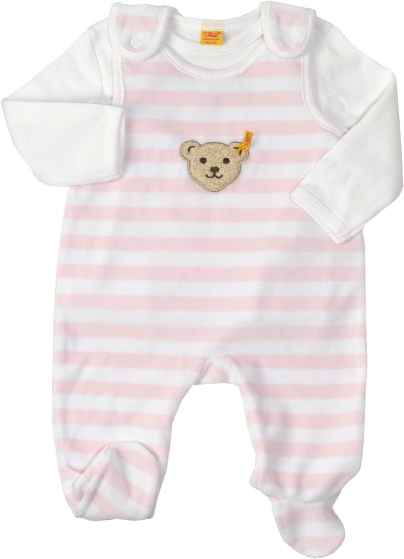 steiff nicki strampler m shirt basic barely pink 2tlg 0002855 2560 bei papiton bestellen. Black Bedroom Furniture Sets. Home Design Ideas