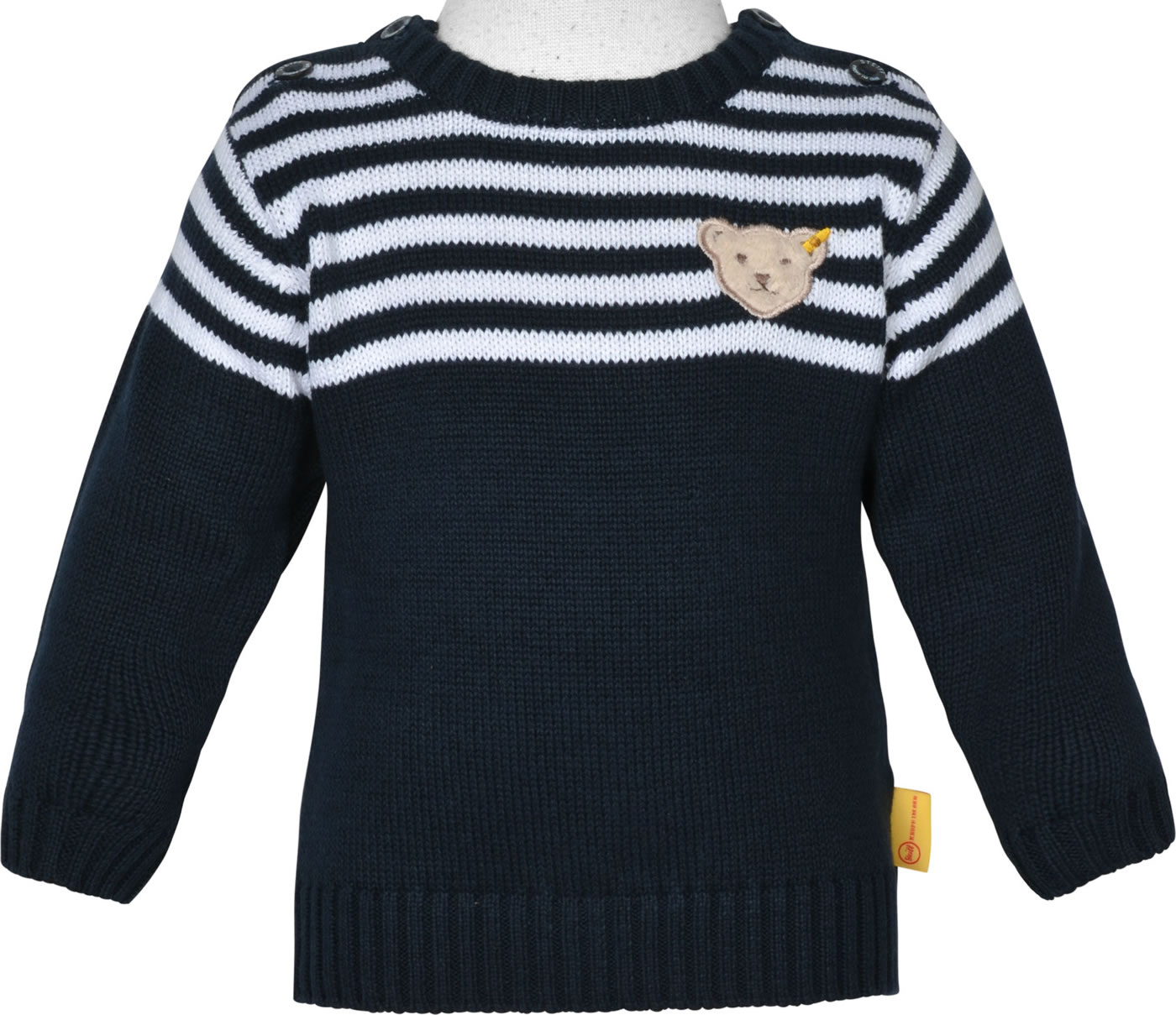 premium selection 106b4 a3b9f Steiff Pullover BLUE WINTER black iris 1922102-3032