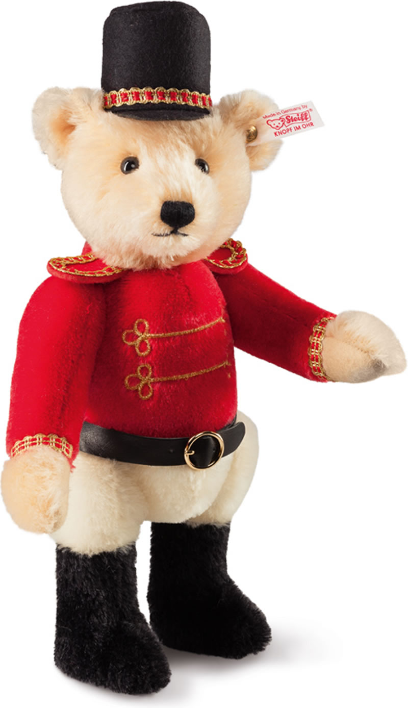 Steiff Teddy Bear Nutcracker Multicoloured Mohair 27 Cm 034480 Wrist Red