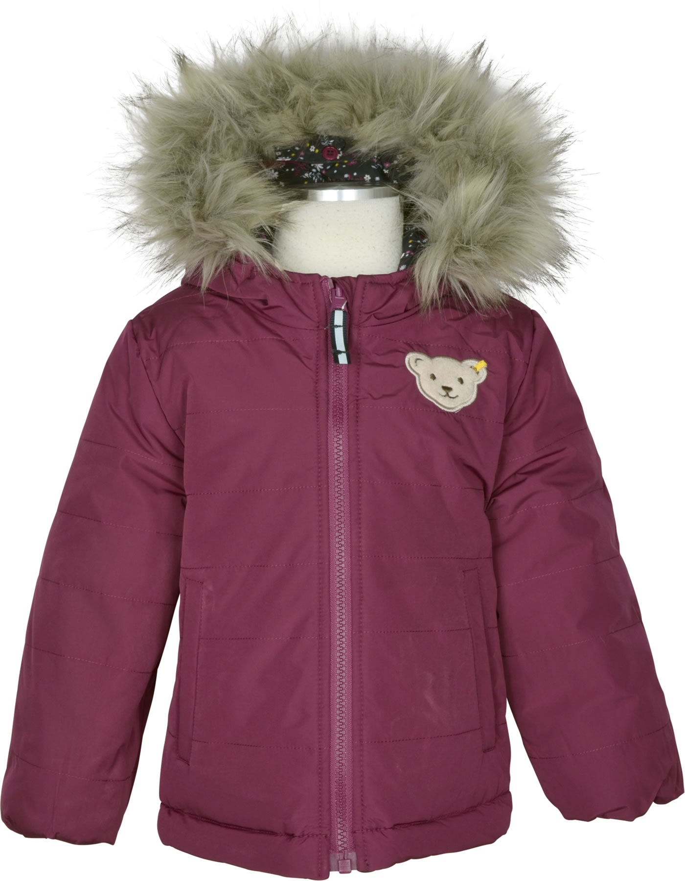 Steiff Wende Jacke Bionic Finish BLUEBERRY HILL beet red 1922601 4010