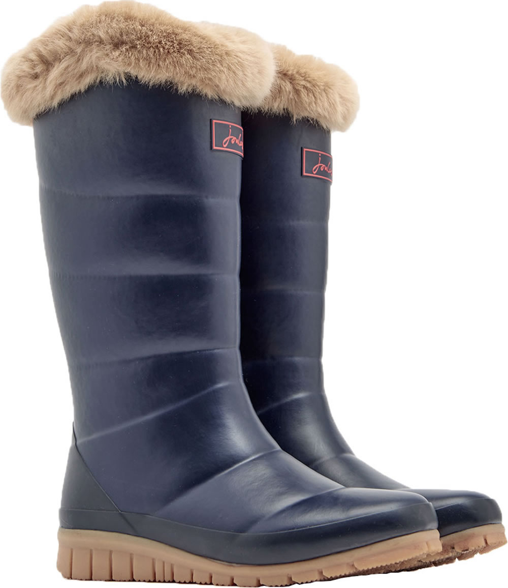 super popular 0de17 26474 Tom Joule Damen-Gummistiefel m. Fell navy X_DOWNTON-MARNAVY
