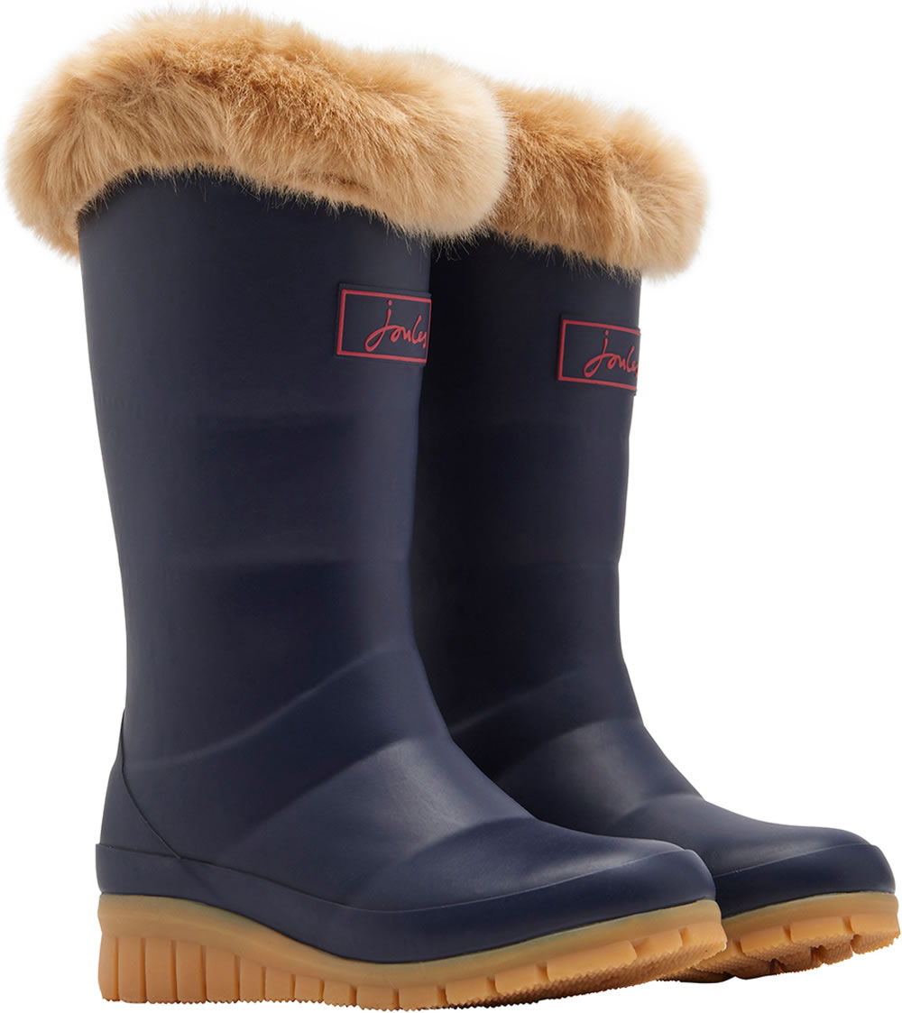 sale retailer 0de24 a33ef Tom Joule Wellingtons Faux fur trim french navy Z_JNRDWNTON-FRNAVY