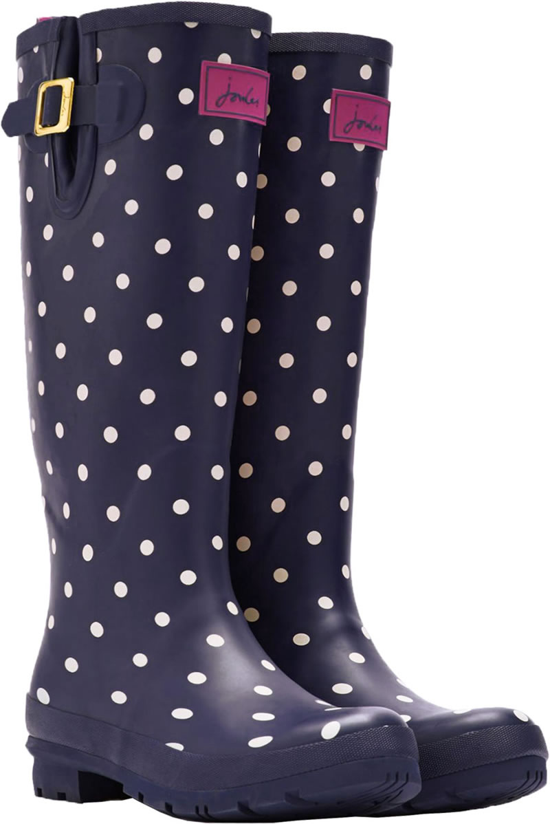 the latest 527d1 6271e Tom Joule Wellingtons WELLY DOTS blue/white/pink T_WELLYPRINT-NAVSPOT
