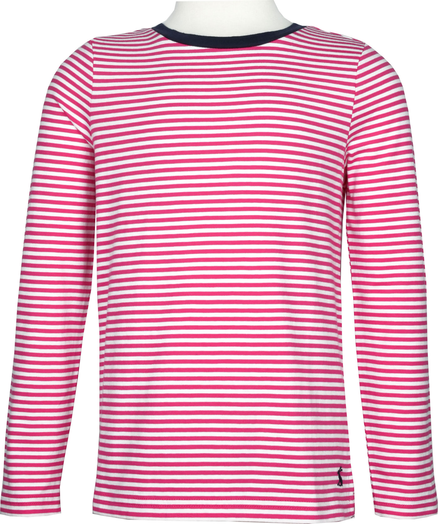 Tom Joule Jersey Applique T Shirt long sleeve PASCAL pink white stripe 209776 PNKWH
