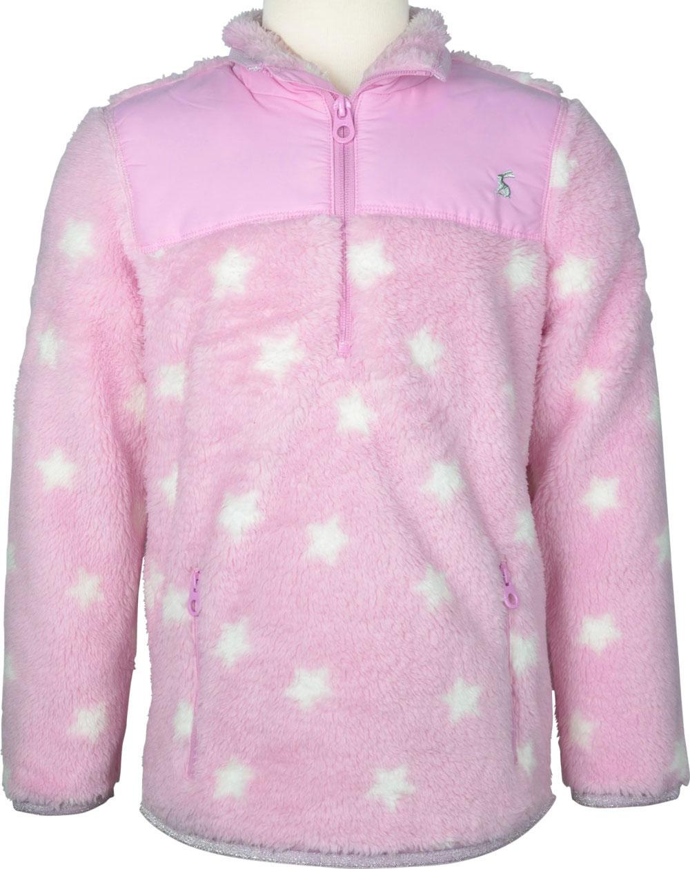 Tom Joule Teddyplüsch Pullover m. Zipper STERNE pink Z_ODRELENA PNKSTAR