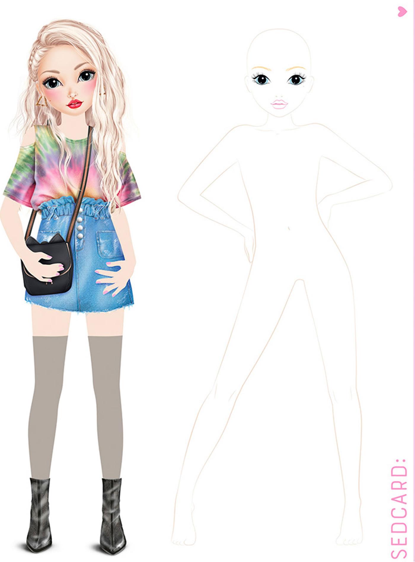 Topmodel Create Your Topmodel Jill Et Lexy Livre A Colorier