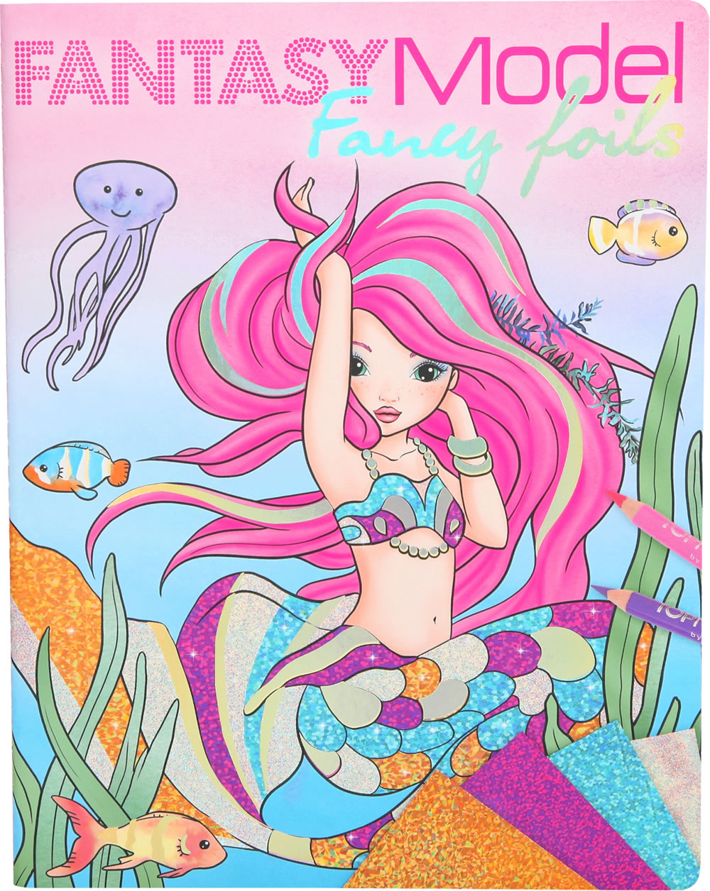 TOPModel colouring book Fancy Foils Fantasy Model online at Papiton.