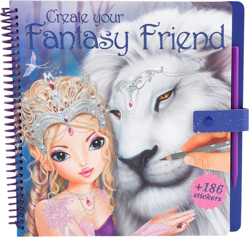 TOPModel painting book Create your Fantasy Friend online at Papiton.